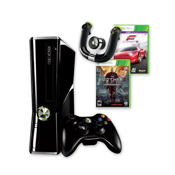xbox 360 250gb hvb forza 4 witcher2 volant. Black Bedroom Furniture Sets. Home Design Ideas