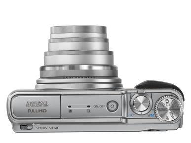... foto, GPS, hodinky Fotoaparáty Kompakty Olympus SH-50 (Stříbrný