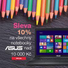 Sleva 10% na notebooky ASUS