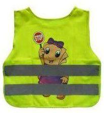 Reflexní vesta dětská žlutá - dívka