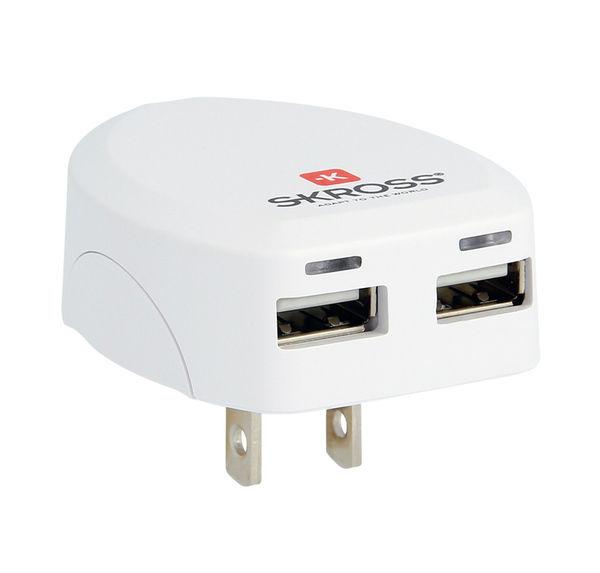 Skross DC10USA - nabíjecí adaptér USA s USB
