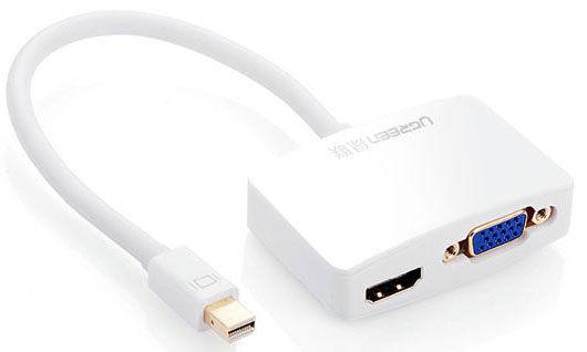 UGREEN 10427 Konvertor z Mini Displayport (samec)na HDMI & VGA (samice)