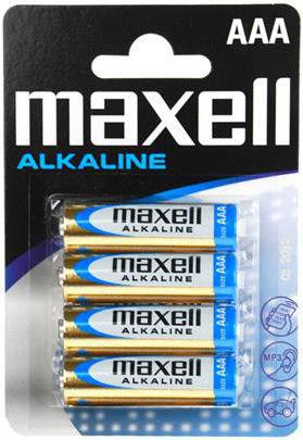 Maxell Alkaline AAA (LR03), 4ks