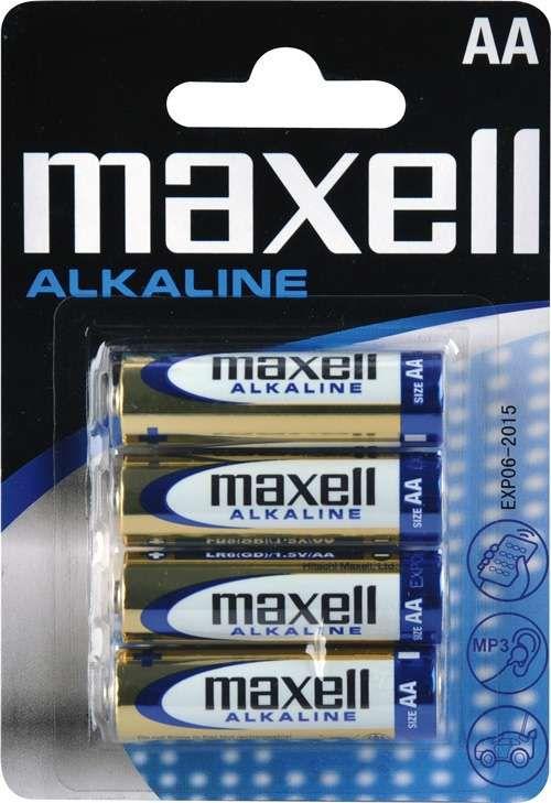 Maxell Alkaline AA (LR6), 4ks