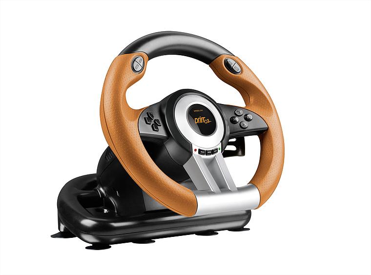 SpeedLink SL-6695-BKOR DRIFT O.Z. (černo-oranžový) - závodní volant k PC