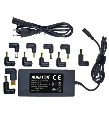 Aligator nabíječka pro notebook 90W + 11 konektorů