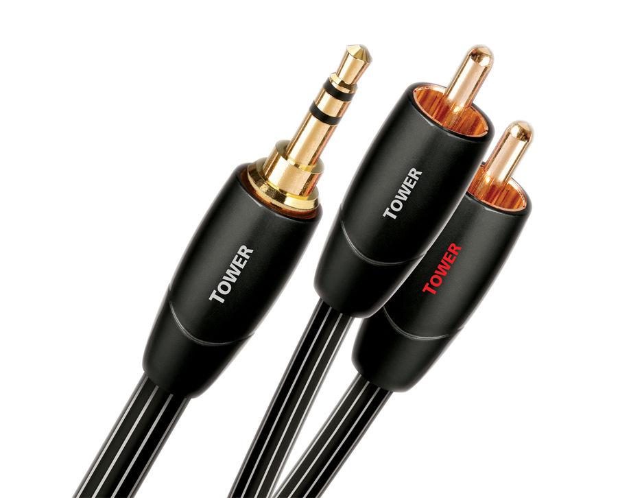AudioQuest Tower - 3,5 mm Jack - 2xRCA kabel, 1.5 m
