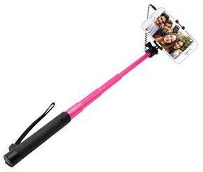 Fixed hliníková selfie tyč s 3,5 mm konektorem, růžová