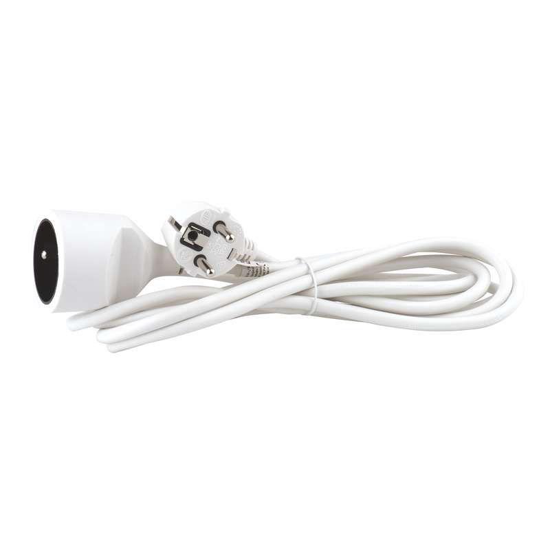 Emos P0113 - Prodlužovací kabel, 3m (bílý)