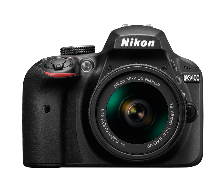 Nikon D3400 + AF-P DX 18–55 f/3,5–5,6G VR + dárek Camlink CL-TP2500B (černý) zdarma