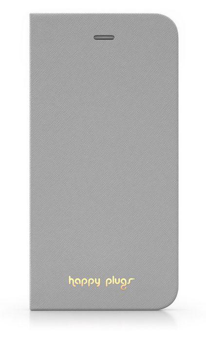 Happy Plugs flipové pouzdro pro Apple iPhone 5/5S (šedé)