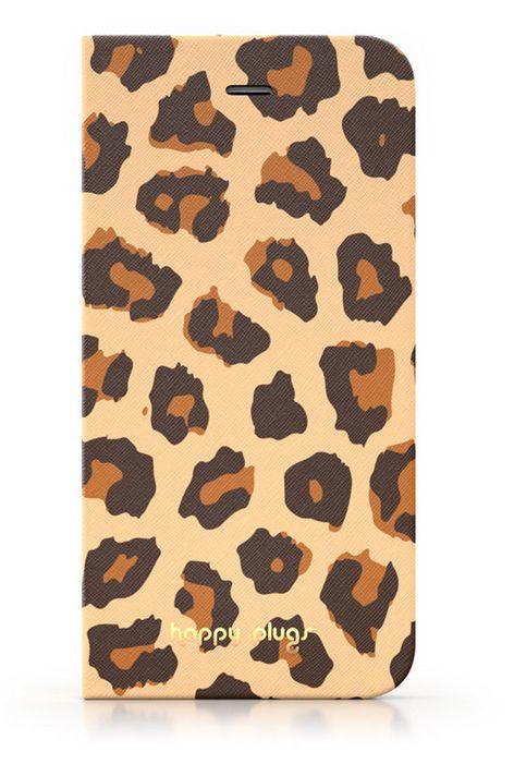 Happy Plugs flipové pouzdro pro Apple iPhone 5/5S (leopard)