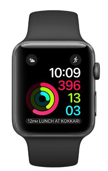 Apple Watch Series 1 38mm vesmírně šedý hliník/černý sportovní řemínek