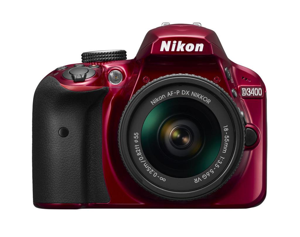 Nikon D3400 + AF-P DX 18–55 f/3,5–5,6G VR (červená)