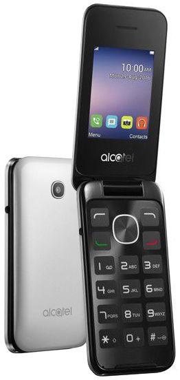 Alcatel 2051D stříbrný