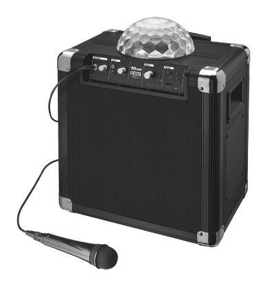 Trust Fiësta Disco Wireless Bluetooth with Lights (černý)
