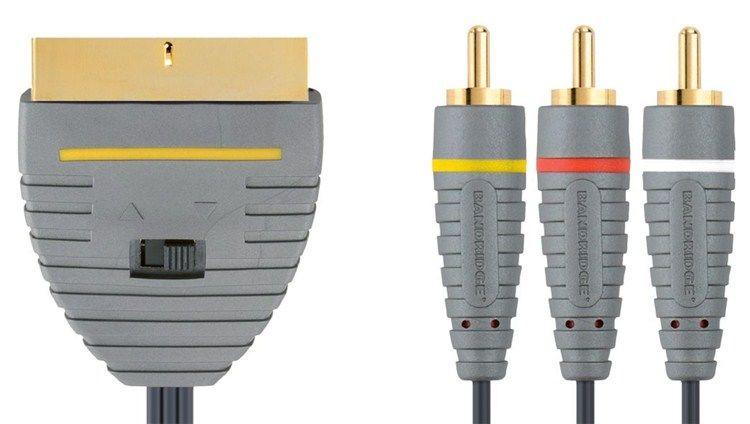 Bandridge BVL5602 - 3xCINCH konektor - SCART konektor, 2m