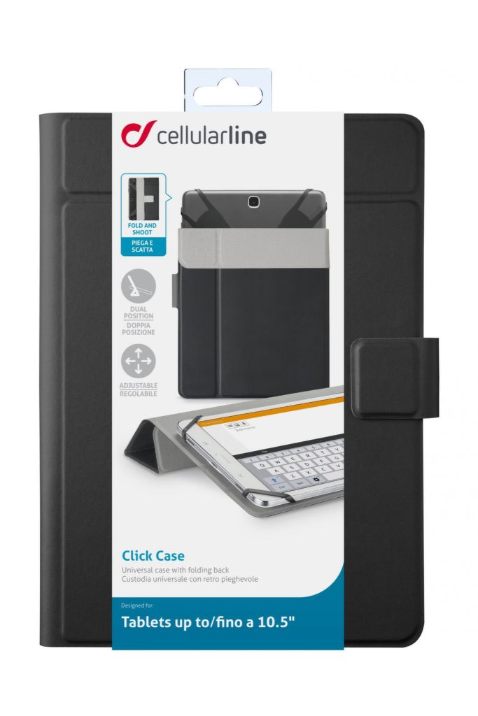 "CellularLine CLICK CASE 10,5"" (černé)"