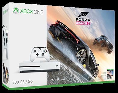 Microsoft Xbox One S 500 GB (bílá)+Forza Horizon 3 + dárek Tajný život mazlíčků - DVD zdarma
