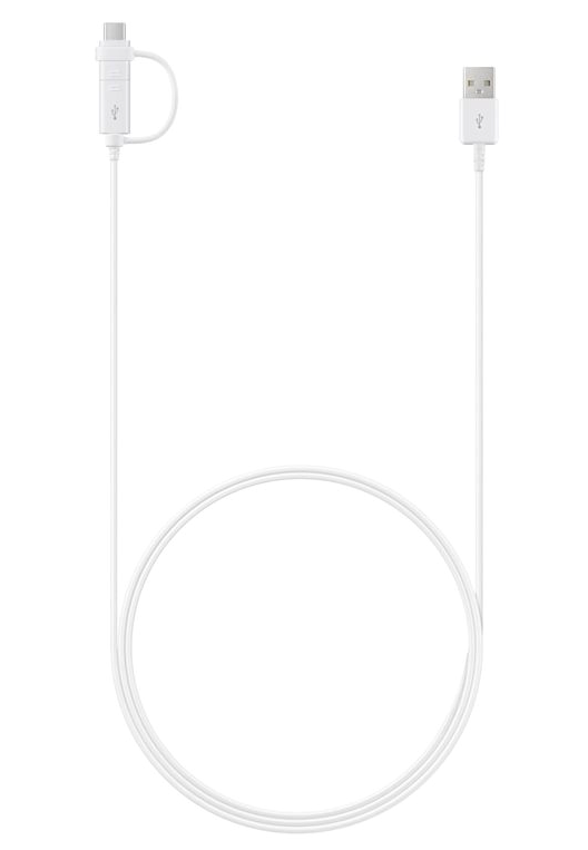 Samsung EP-DG930DWEGWW kombo kabel USB-C a micro USB 1m, bílá