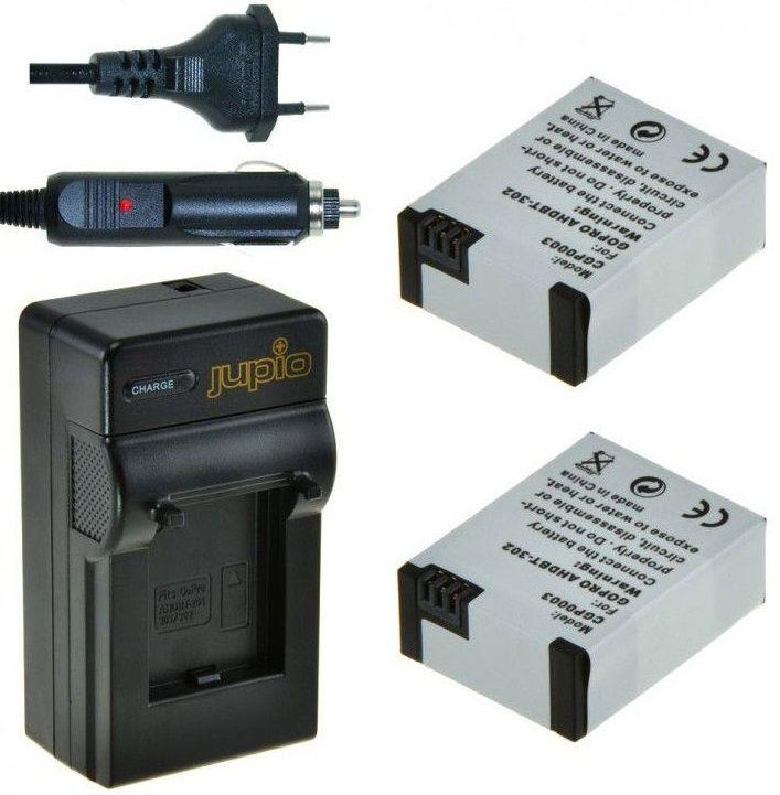 Jupio Set 2x baterie GoPro AHDBT-302 HERO3 + 1200 mAh + USB nabíječka