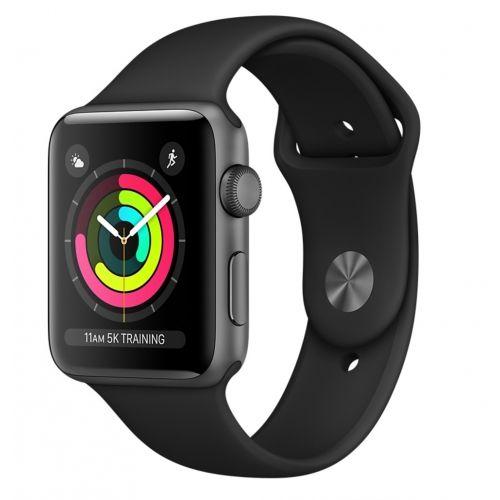 Apple Watch Series 3 38mm vesmírně šedý hliník/černý sportovní řemínek