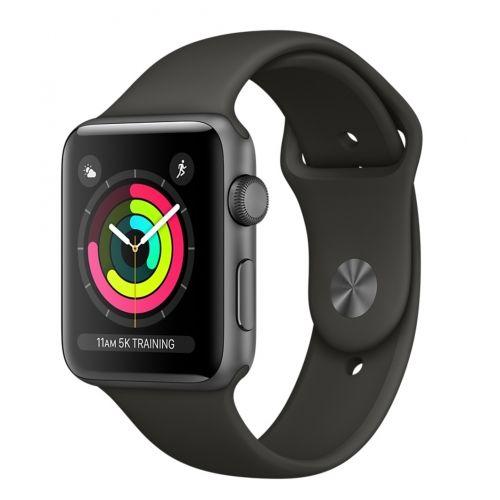 Apple Watch Series 3 42mm vesmírně šedý hliník/šedý sportovní řemínek