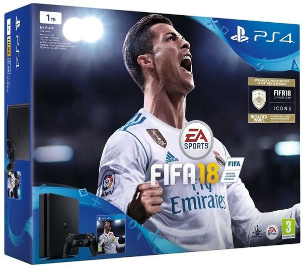 Sony PlayStation 4 Slim 1TB černý + FIFA18 + PS Plus 14 dní