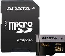 ADATA Premier Pro microSDHC 16GB 95MB/s UHS-I U3 + adaptér