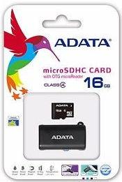 ADATA microSDHC 16 GB Class 4 + OTG USB čtečka