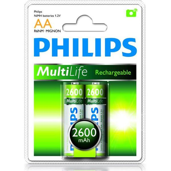 Philips Rechargeable - AA (HR6) 2600 mAh, 2 ks