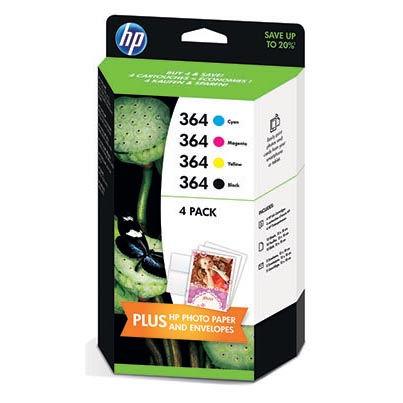 HP J3M82AE No.364 black + No.346 color - inkoust