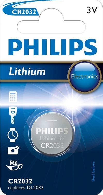 Philips Lithium CR 2032, 1ks