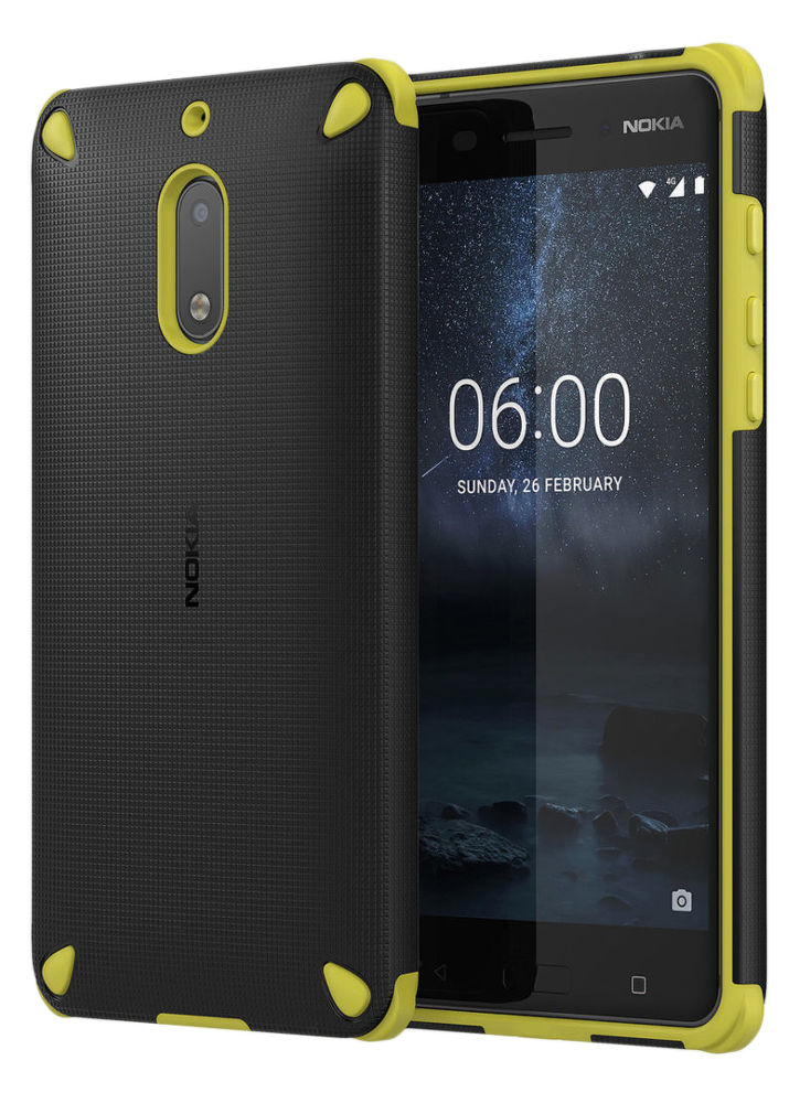 Nokia Rugged Impact Case pro Nokia 6, Lemon black