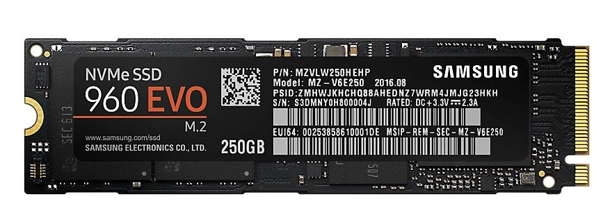 Samsung SSD 960 EVO NVMe M.2 250 GB