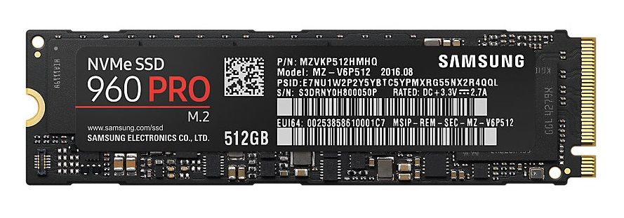 Samsung SSD 960 PRO NVMe M.2 512 GB