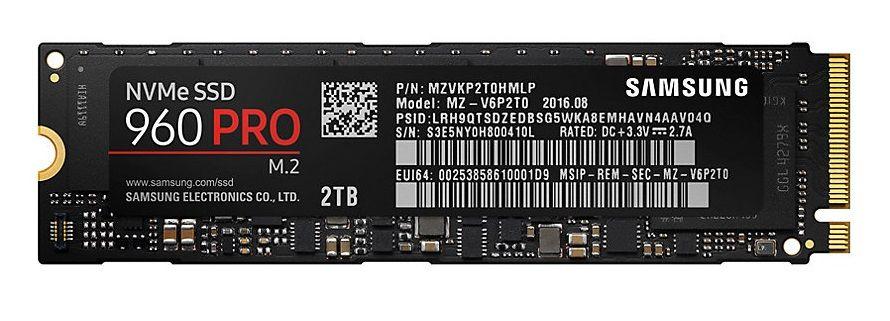 Samsung SSD 960 PRO NVMe M.2 2 TB