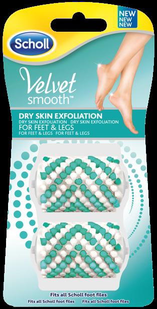Scholl Velvet Smooth Dry Skin Exfoliation náhradní válečky (2ks)