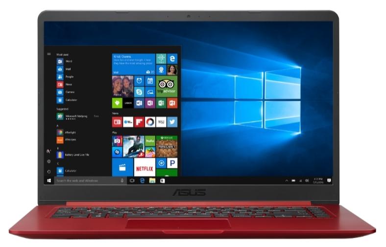 """Asus VivoBook X510UF-BQ011T červený + dárek Logo brašna na 15,6"""" notebook (černá), eScan Internet Security Suite Antivirový software na 90 dní, Yenkee YMS 002BK bezdrátová myš zdarma"""