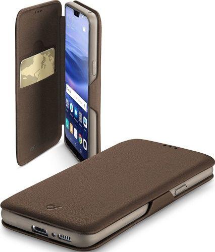 Cellularline Book Clutch pouzdro pro Huawei P20 Lite, hnědé