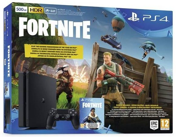 Sony PlayStation 4 Slim 500GB + Fortnite (Battle Royale)