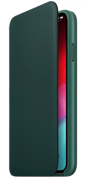 Apple kožené pouzdro Folio pro Apple iPhone XS Max, piniově zelená
