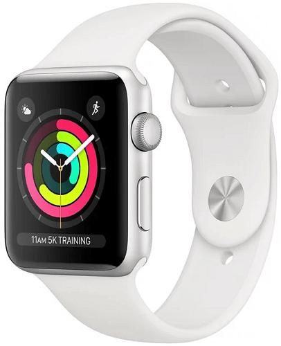 Apple Watch Series 3 38mm (stříbrný hliník/bílý sportovní řemínek)