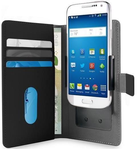 """Puro univerzální flipové pouzdro pro chytré mobily 4,7"""", černá"""