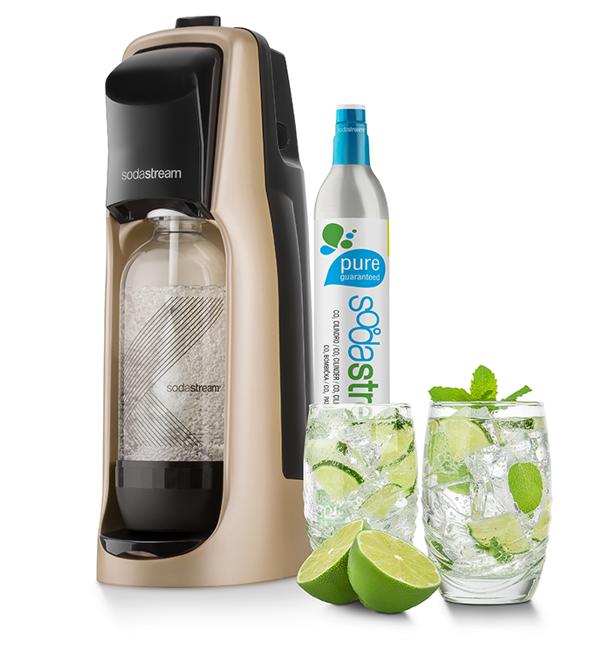 Sodastream Jet Premium zlatý + dárek SodaStream Žížaláci Sada pro děti 2 lahve+dárky zdarma