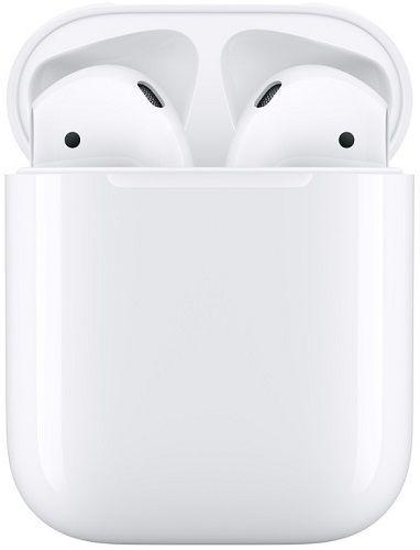 Apple AirPods bílé sluchátka s nabíjecím pouzdrem