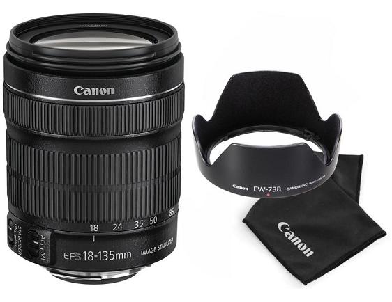 Canon Kit EF-S 18-135mm f/3.5-5.6 IS STM + EW-73B + utěrka