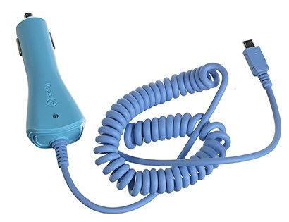 CELLY nabíječka do auta microUSB (modrá)