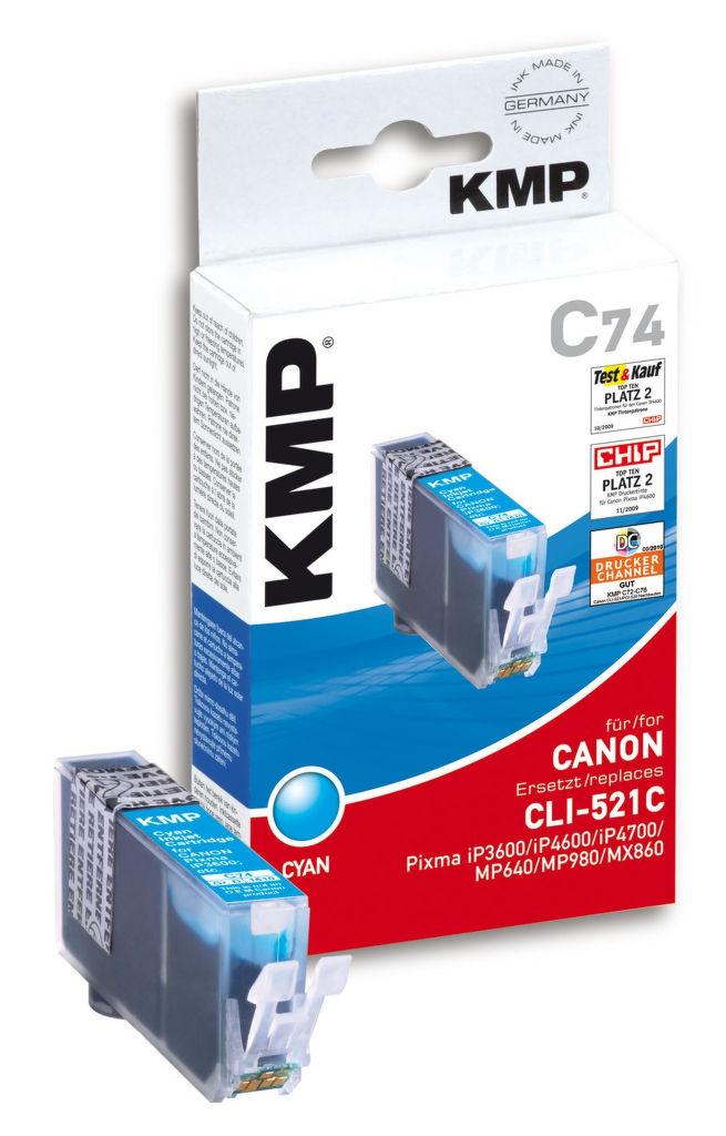 KMP C74 komp.recykl.náplň CLI-521C