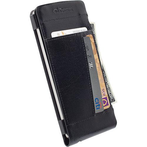 Krusell kožené pouzdro Kalmar Walletcase pro LG G3